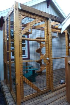 Combine your patio with your cat's catio by simply building theirs on top of yours.