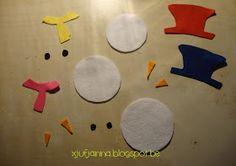 Kleurenspel: Kleed de sneeuwmannen in de juiste kleur   (deze printable kan je hier  downloaden)                 Aankleedspel: Sneeuwmannen...