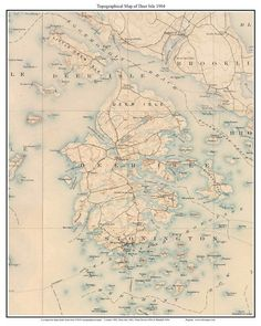 31 Best Maine Old Coast Maps images