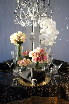 Decor It has been designing many of Melbourne's glamorous and visually stunning weddings, parties and events. Wedding Lunch, Crystal Candelabra, Table Linens, Event Decor, Pink Roses, Melbourne, Centerpieces, Wedding Decorations, Glamour