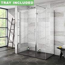 SHOP the Nova 1400 x 800 Wet Room (Inc. Screen, Side Panel + Return Panel with Slate Effect Tray) at Victorian Plumbing UK Wet Room Screens, Walk In Shower Enclosures, Glass Hinges, Large Shower, Shower Screen, Shower Panels, Wet Rooms, Bathroom Interior, Bathroom Inspo