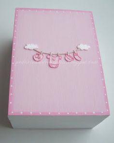 Baby memories box, handpainted