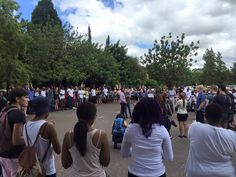 Pts University 22 Feb 2016 standing against racism & violence: Goose bumps. this is beautiful if only it could trend on media just like the unnecessarily bs that is trending! We need more like these students! Goose Bumps, Happenings, Dolores Park, University, Students, Shit Happens, Beautiful, Events, Colleges