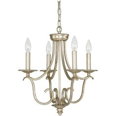 Capital Lighting Bailey Collection 4-light Winter Gold Mini Chandelier... ($220) ❤ liked on Polyvore featuring home, lighting, ceiling lights, gold, mini light, gold candelabra, gold mini chandelier, 4-light and outdoor ceiling lights