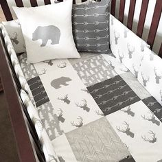 15 nursery organization ideas f r ldrar organisera for Mountain crib bedding