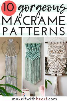 macrame plant hanger+macrame+macrame wall hanging+macrame patterns+macrame projects+macrame diy+macrame knots+macrame plant hanger diy+TWOME I Macrame & Natural Dyer Maker & Educator+MangoAndMore macrame studio Pot Mason Diy, Mason Jar Crafts, Mason Jars, Diy Macrame Wall Hanging, Macrame Wall Hangings, Macrame Mirror, Macrame Curtain, Modern Macrame, How To Macrame