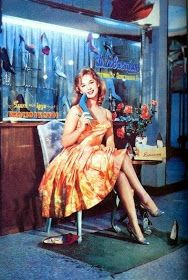 Aliki Vougiouklaki in an ad for Sevastakis, a greek shoe shop that was famous for the design and the quality of the leather shoes. Vintage Advertising Posters, Old Advertisements, Vintage Ads, Vintage Posters, Greek Fashion, 60s And 70s Fashion, Vintage Fashion, Greek Culture, Retro Ads
