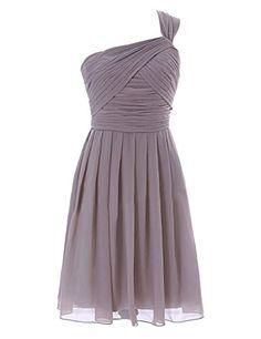 Diyouth One Shoulder A-line Short Chiffon Bridesmaid Dress Grey Size 10 Diyouth http://www.amazon.com/dp/B00LQN3GZ6/ref=cm_sw_r_pi_dp_s8g0tb144FQ3CQ8P