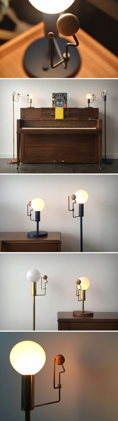 The lamp showcases the sun like never before in a beautiful warm glowing orb of hand-blown glass. Around it, suspended on a machined brass poles are wooden orbs, the size of the earth and the moon (with respect to the sun). The lamp itself comes with a dimmer switch, allowing you to set your mood, while the earth and moon can be placed anywhere around the orbit of the sun, creating either what would be the position of the cosmic bodies with respect to the time of the day. Shop now!