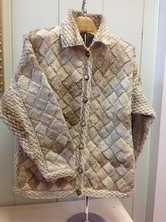 1800 Long Entrelac Cardigan pattern by Vanessa Ewing Ravelry and Patterns
