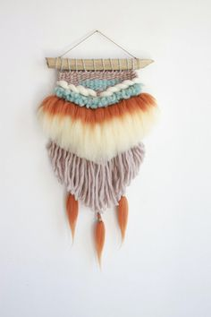 Your place to buy and sell all things handmade Weaving Wall Hanging, Boho Wall Hanging, Wall Hangings, Weaving Yarn, Tapestry Weaving, Hand Weaving, Wool Yarn, Merino Wool, String Crafts