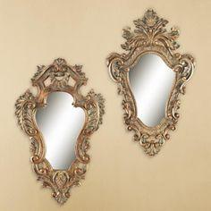 "Pizzo Antique Bronze 2-Piece 11 3/4"" High Accent Mirror Set"