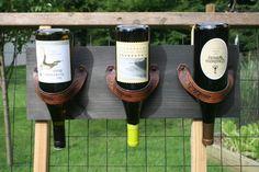 Держатели для вина из ремней (подборка)