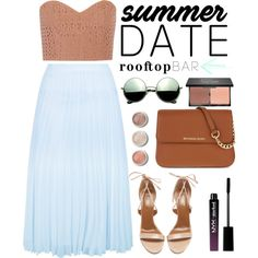 Summer Date: Rooftop Bar by dora04 on Polyvore featuring polyvore, fashion, style, TIBI, New Look, Aquazzura, MICHAEL Michael Kors, Revo, blacklUp and NYX