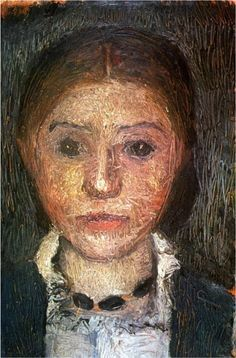 Self Portrait with necklace, 1902 - by Paula Modersohn-Becker (1876 –1907), German