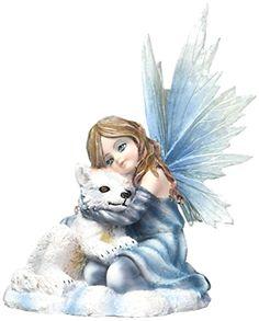 Winter-Fairy-Figurine-with-wolf