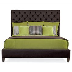 Bernhardt. Porter Upholstered Bed, fully upholstered with button-tufted headboard