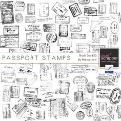picture of printable stamps from different countries