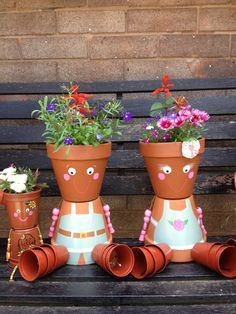 flower pot men garden ornaments - Google Search
