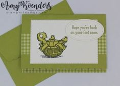 Stampin' Up! Back On Your Feet Notecard Set – Stamp With Amy K Source by jdpward Some Cards, Get Well Cards, Get Well Wishes, Stampin Up Catalog, Stamping Up Cards, Sympathy Cards, Greeting Cards, Animal Cards, Card Envelopes