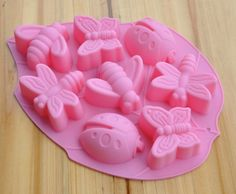Lovely Insects Flexible Silicone Mold/Mould For Handmade Soap Candle Candy Chocolate Jewelry Jelly Cake Fimo Resin Crafts. $5.99, via Etsy.