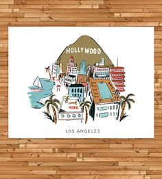 Los Angeles Rooftop Art Print by Idlewild Co. on Scoutmob Shoppe