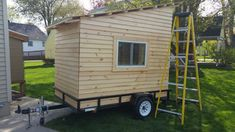 This is an incredible DIY micro camper complete with a fold-down picnic table, deck and awning. Enclosed Trailer Camper, Small Camper Trailers, Tiny Camper, Tiny House Trailer, Small Campers, Tiny House Cabin, Micro Campers, Teardrop Campers, Airstream Trailers