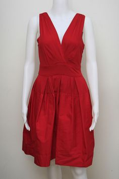 BRAND NEW WITH TAG $325 SIZE: 4 M LACQUER RED COLOR COCKTAIL DRESS DKNY   #DKNY #Cocktail