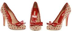 Polka dot bow shoes...wish I could spend money on things this impractical just for the sheer fun of it.