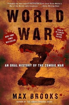 World War Z: An Oral History of the Zombie War by Max Brooks, http://www.amazon.com/dp/0307346617/ref=cm_sw_r_pi_dp_nPSgqb0KZEJSY