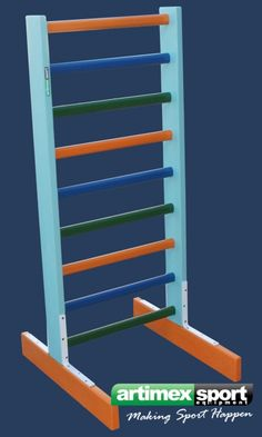 Wall Bars for children,freestanding. Ideal for rooms where you can not fix the swedish ladder on the Wall. Crossfit, Calisthenics Gym, Pilates Equipment, Basketball Systems, Gymnastics Mats, Sport Hall, Pull Up Bar, Wall Bar, Physical Therapy
