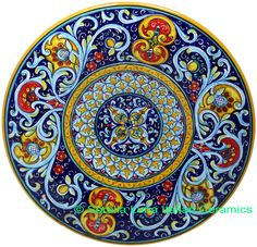 Ceramic Clay, Ceramic Painting, Ceramic Plates, Decorative Plates, Glazes For Pottery, Ceramic Pottery, Art Decor, Decoration, Talavera Pottery
