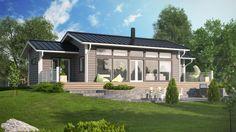 Moderni hirsitalo, moderni huvila, Aava Log Homes, Home Fashion, Finland, Modern Farmhouse, Construction, Cottage, Exterior, House Styles, Outdoor Decor