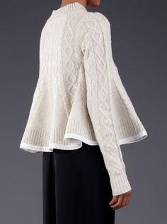 SACAI LUCK - Flared Pullover Sweater - 13AWLU593 LT. GRAY - H. Lorenzo