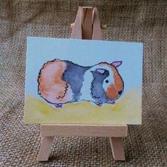 ACEO Guinea Pig Watercolour £2.90