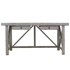 Crane Desk in Silver ~ as an herb table!