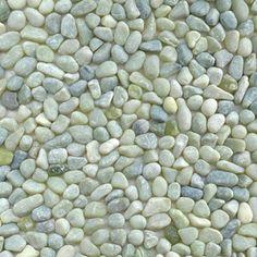 Seaglass pebble tile-*border for upper bath &/or shower floor