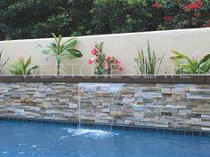 oyster quartz ledger stone panles for pool