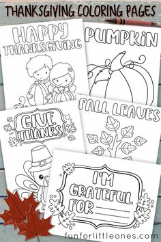 Thankgiving Coloring Pages - Free Printable! Fun for Little Ones   #Thanksgiving #printables #kids #kidsactivities #coloring #coloringpages #holiday