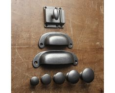 Shaker cabinet Knobs - Solid Cast Iron Cabinet Knobs, Handles, Latch, Catch Quality Cup Bin D Pulls Door Drawer Kitchen Cupboards Classic Vintage English Shaker. Black Door Handles, Knobs And Handles, Drawer Knobs, Drawer Handles, Cabinet Knobs, Knobs And Pulls, Pull Handles, Door Knobs, Hardware Pulls