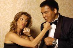 Celine Dion and Muhammad Ali