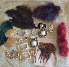 lot de 20 articles Faites le vous même Médiéval Feathers
