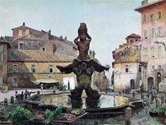 Piazza Barberini - Ettore Roesler Franz