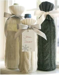 sweater wine sleeves by Paper & Parcel