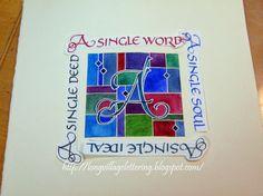 Calligraphy: A Single Word Stap voor stap werkbeschrijving (werken met 'mask fluid')