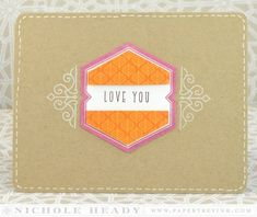 Love You Card by Nichole Heady for Papertrey Ink (November 2014)