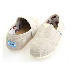 Cheap Toms Shoes White Cord Men's Classics For Sale Online