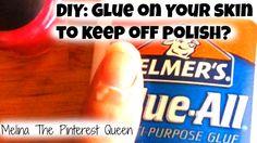 #PaintYourNailsForBruce DIY: Glue To Keep Polish Off Skin