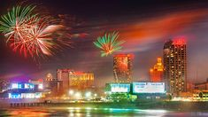 Visible for a 1-mile stretch of the boardwalk and beach, the fireworks in Atlantic City, NJ, are a show not to be missed. For more bright, colorful fun, check out the nightly 3-D light show on the Boardwalk Hall facade.