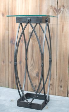 Gothic Industrial Iron Pedestal Table.